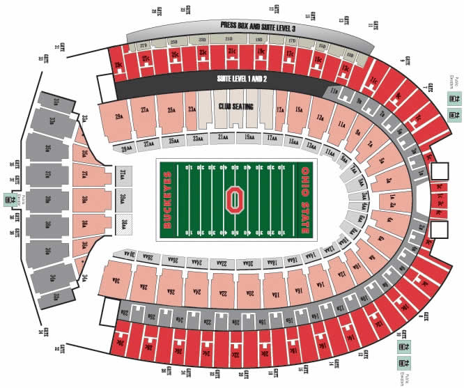 Ohio Stadium Seating Chart Ohio Stadium Seating Chart